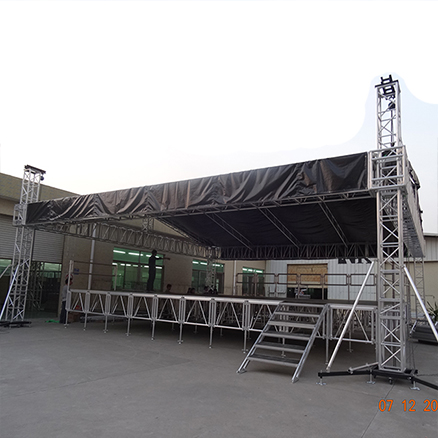 Aluminum Saddle Roof Truss Stage System