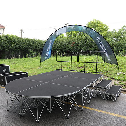 Aluminum Portable Pop Up Folding Spider Stage